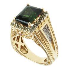 Michael Valitutti 14k Yellow Gold -gemstone and Diamond Ring