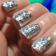 Beautiful Glitter Party Nails for any look 2015 Nail Art Nail Polish Art, Glitter Nail Polish, Nail Art, Sparkly Nails, Bling Nails, Hot Nails, Hair And Nails, Look 2015, Nail Time