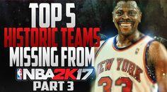 NBA 2K17 Top 5 Teams Missing - http://www.sportsgamersonline.com/nba-2k17-top-5-teams-missing/
