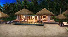 Inspirational techniques that we appreciate! Modern Tropical House, Tropical Beach Houses, Tropical House Design, Dream Beach Houses, Beach Cottage Style, Beach Cottage Decor, Resort Plan, Hut House, African House