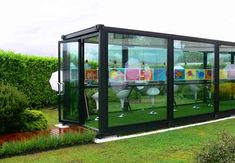 Eco-fied container architecture; perfect art studio = love and dream of this to have