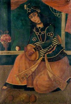 Woman Playing a Drum