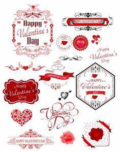 Valentine day label