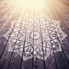 Mandala-stencil-stenciled-deck-floor-stencils-mandalas