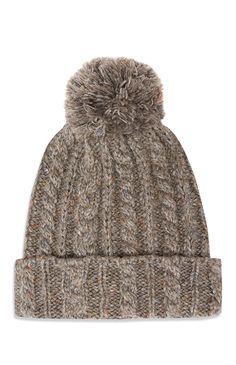 Primark - Grey Bobble Cable Hat