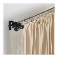 RÄCKA / HUGAD Triple curtain rod combination IKEA You can combine three layers of curtains, both thick and thin, using the triple rod.
