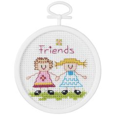 "Friends Mini Counted Cross Stitch Kit-2.5"" Round 18 Count"