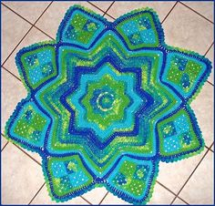 Lilly Pond Eight Point Round Ripple Crochet Afghan, Free Pattern