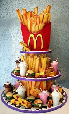 McDonald's french fries decorated cake art