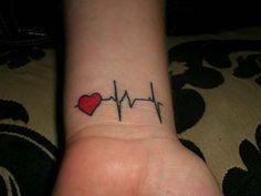 Small Tattoo Ideas For Men Heart Beat