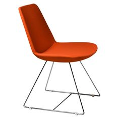 Aeon Karen Molded Foam Chair - Orange (Set of Kitchen Seating, Kitchen Chairs, Dining Chairs, Informal Dining Rooms, Grey Chair, Kitchen Remodel, Living Spaces, Retro, Inspiration