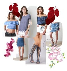 """Summer Denim Not So Blue Blues"" by sensualshoesandclothingboutique on Polyvore"