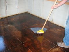 1000 images about concrete floors on pinterest concrete for Best wax for stained concrete floors