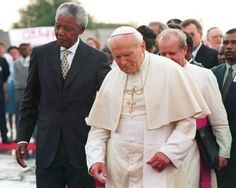 The Pope and Nelson Mandela