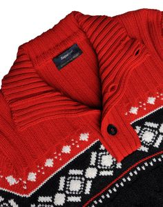 ZegnaSport Button-mock sweater in cable-knit wool with Norwegian pattern,