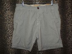 Hollister Men High Tide Button Fly Blue Striped Khakis Chinos Shorts Size 31 NWT #Hollister #KhakisChinos