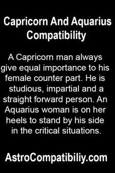 Female Capricorn Male And Compatibility Aquarius