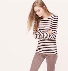 Burgundy stripes  Loft 2014