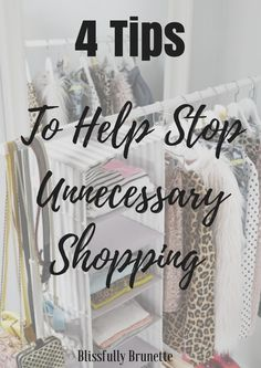 How to stop unnecessary shopping!