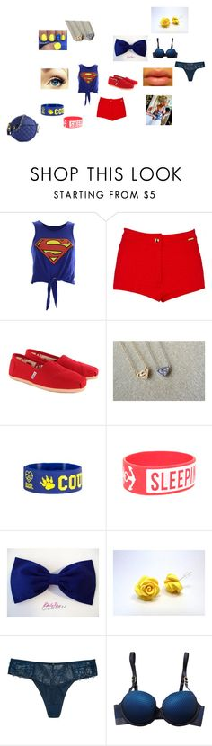 """""""superman went fabulous"""" by diamond-winston ❤ liked on Polyvore featuring River Island, TOMS, But Another Innocent Tale, Triumph Essence, STELLA McCARTNEY and Urban Expressions"""