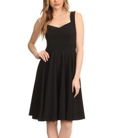 Another great find on #zulily! Black Sweetheart Fit & Flare Dress - Plus Too #zulilyfinds
