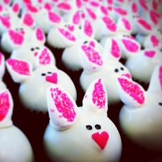 cake baller cake balls, or bunny balls, errr, what?? Look who is hoppin on over to baller headquarters tomorrow between 11-2p? It's true. You don't want to miss these little cuties!! www.thecakeballers.com #thecakeballers #cakeballers #cakeballer #easterparty #easterbunny #bunnyfoofoo #sweet #fluff #easter #whiterabbit #party #bhq #cakeballs #rabbit