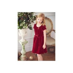 This Boden Girls' Velvet Party Dress is perfect for Christmas! Gorgeous! #aff