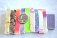 10 HANDCRAFTED SOAP SAMPLES Cold Process Teacher by dragonflyday