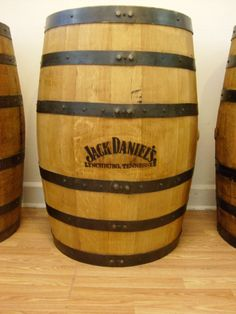 Authentic  Whiskey Barrel-Branded and Engraved-Sanded and Finished by AuntMollysBarrels on Etsy https://www.etsy.com/listing/191752120/authentic-whiskey-barrel-branded-and