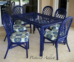 Pinned 193K+ times! Rustoleum Navy Blue Paint and Thompsons Waterseal Fabric Seal