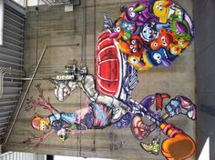 Awesome street art on 13th and Champa in Denver, CO.