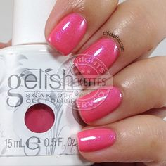 Gelish Cancan We Dance? - peachy-pink with iridescent purple shimmer (spring 2015, Ooh La La Collection)