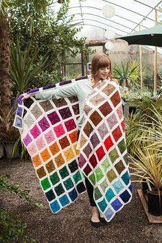 Ultimate Crochet Palette Blanket - All Free Crochet Pattern + Video Tutorial Knitted Afghans, Afghan Crochet Patterns, Knitted Blankets, Knitting Patterns, All Free Crochet, Free Knitting, Knit Crochet, Crochet Crafts, Crochet Projects