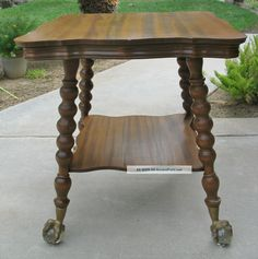 Details About Carved Quartersawn Oak Parlor Table Huge