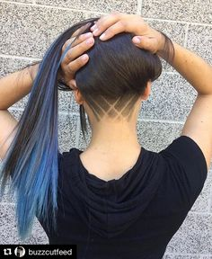 "70 Likes, 4 Comments - Beauty Code (@beautycodemena) on Instagram: ""#undercut inspiration @beautycodeme #Repost @buzzcutfeed with @repostapp ・・・ Long Blue & Buzzed…"""