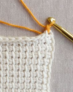 Whits Knits: Tunisian Crochet Washcloths - The Purl Bee - Knitting Crochet Sewing Embroidery Crafts Patterns and Ideas!