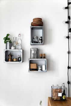 Trend Alert: 11 Kitchens with Wall-Mounted Box Shelving