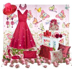 """""""The Colors: Ruby Red"""" by fiordiluna on Polyvore"""
