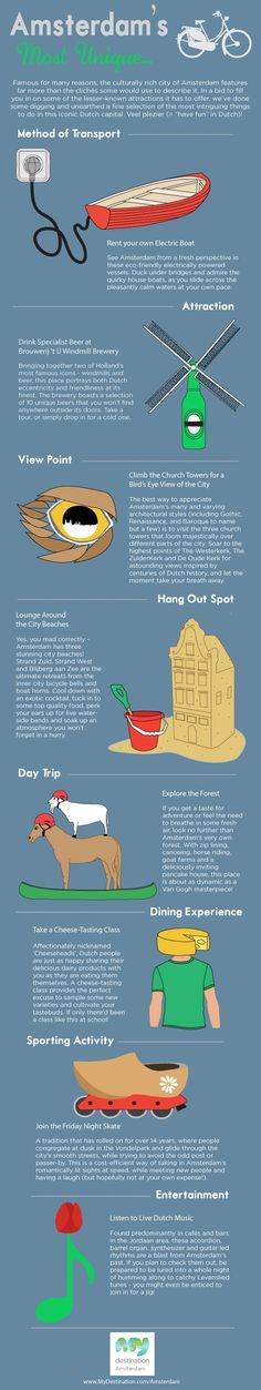 AMSTERDAM'S MOST UNIQUE... #infographic #travel #tips