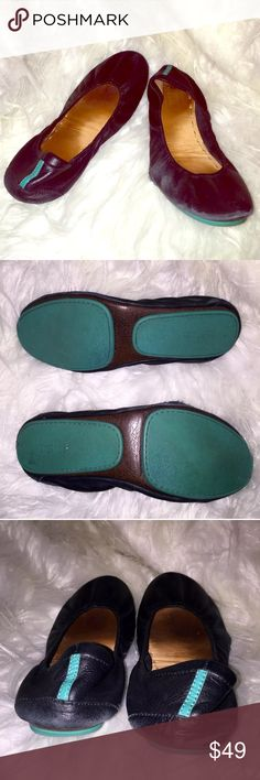 TIEKS by Gavrieli Black Leather Ballet Flat Sz 10 please review the entire listing and it's details before making your purchase.  	•	US Women's Size 10 	•	Soft leather upper 	•	Cushioned back and padded footbed 	•	Non-skid rubber outsoles. 	•	Shoes only - Like many pre-owned items, it does not come with the original box or anything other than the shoes. 	•	CONDITION: there is a small rip on the toe area.  It is a small hole on only one of the shoes. Im not sure how this can be fixed or…