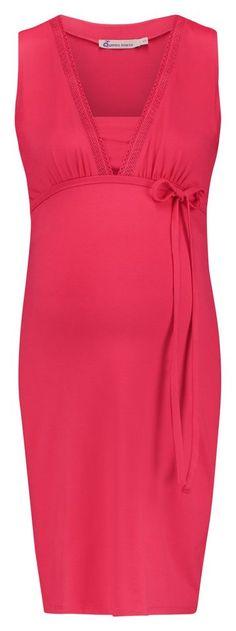 QUEEN MUM Still-Kleid für 59,99€. Kleid mit Stillfunktion von Queen Mum, Aus weichem Material mit Stretchanteil, V-Ausschnitt mit Spitzeneinsatz bei OTTO