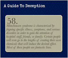 A Guide To Deception — While this isn't as directly related to deception...
