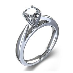 Cathedral Four Prong Diamond Engagement Ring in Platinum - $1,340