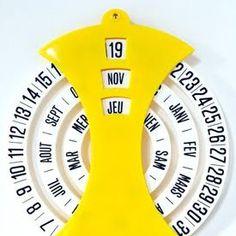 calendar turning wheel