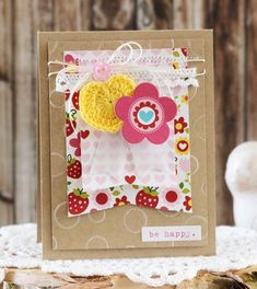Bella Blvd Summer Squeeze Collection. Card by DT member Laurie Schmidlin