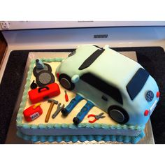 Cake I made for a graduation party for a mechanic