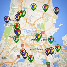 Alleen vandaag nog dat er maar liefst twee pointers in het centrum van Amsterdam op groen staan: dubbele mogelijkheid om Stampions te stempelen zonder de ring te verlaten! #Uitmarkt #WerelderfgoedPodium