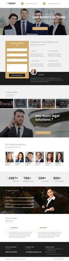 Tornado Pack is multiple 9 in 1 #Bootstrap HTML5 Landing Pages #template for multipurpose #lawyer website download now➯ https://themeforest.net/item/tornado-pack-multiple-landing-pages/16825784?ref=Datasata