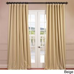 Exclusive Fabrics Extra Wide Thermal Blackout 96 Inch Curtain Panel