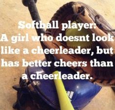 O my goodness, so true the cheerleaders cheers are annoying, but softball cheers… - Deportes Softball Chants, Softball Players, Girls Softball, Fastpitch Softball, Softball Stuff, Softball Hair, Softball Pitching, Softball Bows, Volleyball Drills